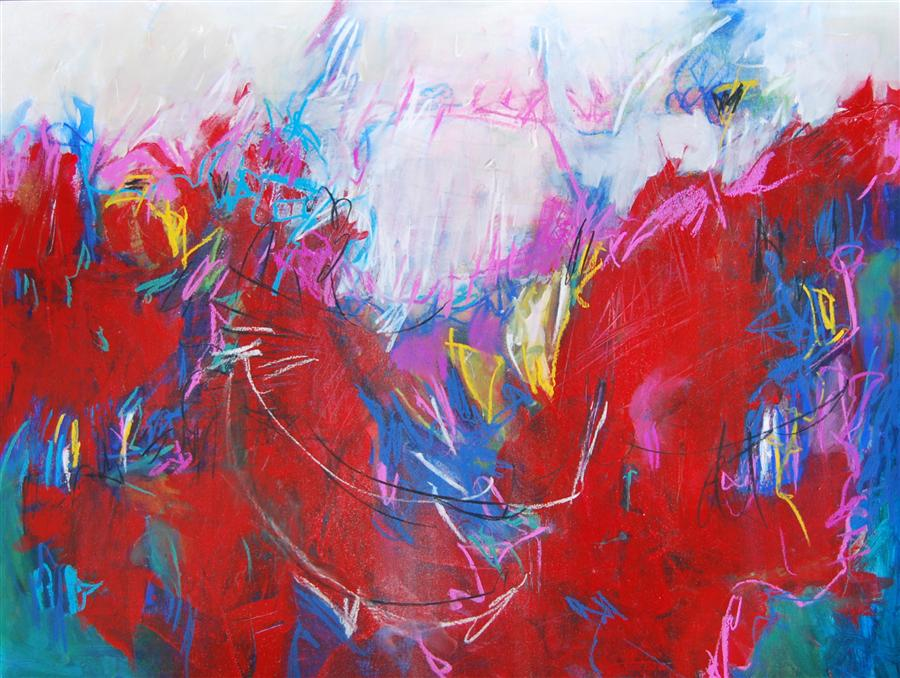 Original art for sale at UGallery.com | The Dance of Soul Mates by KARA BARKVED | $450 | Mixed media artwork | 18' h x 24' w | http://www.ugallery.com/mixed-media-artwork-the-dance-of-soul-mates