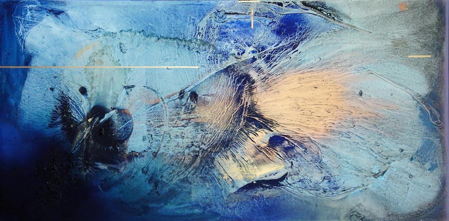 Discover Original Art by Mélisa Taylor | At Sea Between Fossils and Satellites 7 mixed media artwork | Art for Sale Online at UGallery