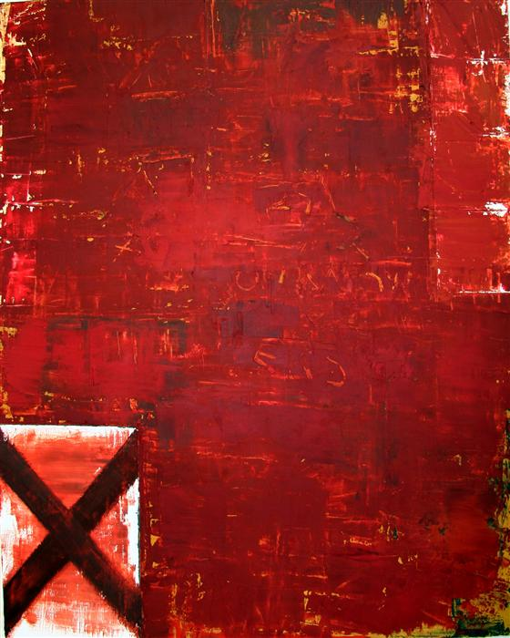 Original art for sale at UGallery.com | X Factor #3 by JIM BLACK | $4,350 | Oil painting | 60' h x 48' w | http://www.ugallery.com/oil-painting-x-factor-3