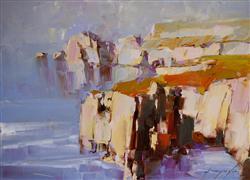 Impressionism art,Seascape art,Classical art,Representational art,oil painting,Highway Coast