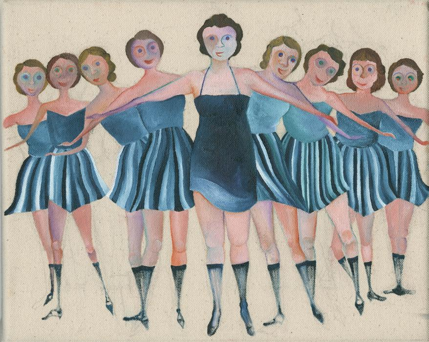 Discover Original Art by Lucille Pack | Showgirls oil painting | Art for Sale Online at UGallery
