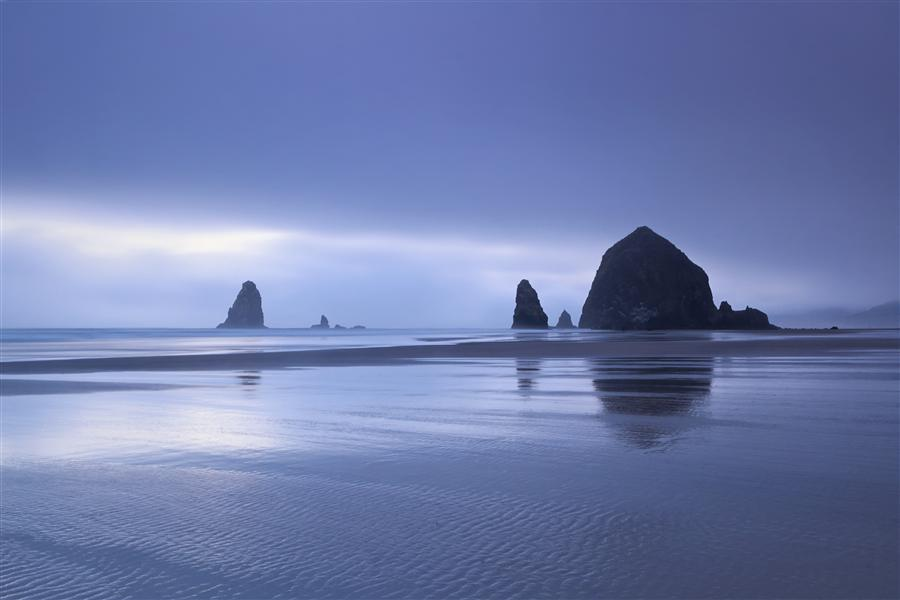Discover Original Art by Katherine Gendreau | Cannon Beach in Fog photography | Art for Sale Online at UGallery