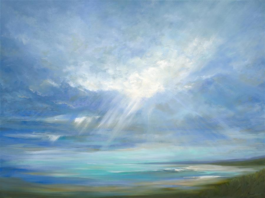 Original art for sale at UGallery.com | Heavenly Light XVI by SHEILA FINCH | $6,000 | Oil painting | 36' h x 48' w | http://www.ugallery.com/oil-painting-heavenly-light-xvi