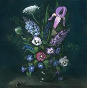 Still Life art,Flora art,Classical art,Realism art,Representational art,pastel artwork,Still Life in Purple and Green