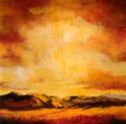 Original art for sale at UGallery.com | Red Sky II by Mandy Main | $1,975 | oil painting | http://www.ugallery.com/oil-painting-red-sky-ii