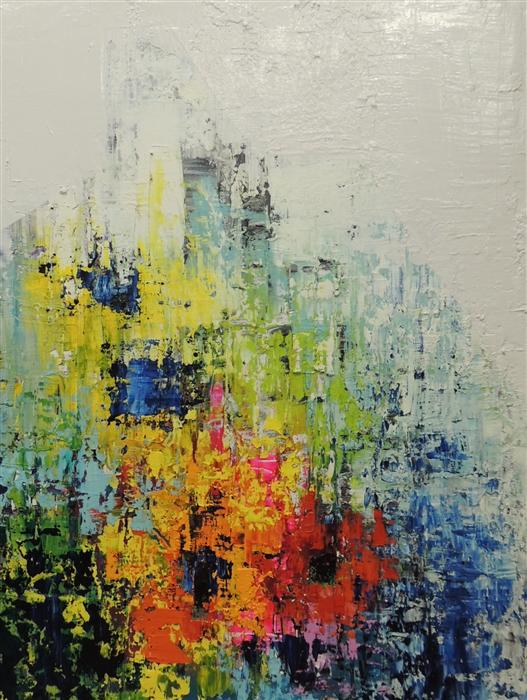 Original art for sale at UGallery.com | Structured by MIA TARDUCCI | $2,750 | Oil painting | 40' h x 30' w | http://www.ugallery.com/oil-painting-structured