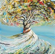 Discover Original Art by Piero Manrique | Dancing Tree acrylic painting | Art for Sale Online at UGallery