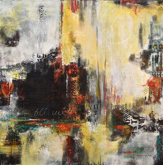 Original art for sale at UGallery.com | Urban Farewell 1 by DL WATSON | $3,525 | Acrylic painting | 40' h x 40' w | http://www.ugallery.com/acrylic-painting-urban-farewell-1