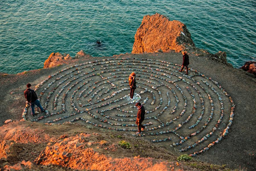 Original art for sale at UGallery.com | Labyrinth at Land's End by MATHEW LODGE | $145 |  | ' h x ' w | http://www.ugallery.com/photography-labyrinth-at-land-s-end