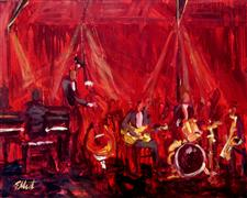 Discover Original Art by Elliot Coatney | Jazz Band acrylic painting | Art for Sale Online at UGallery