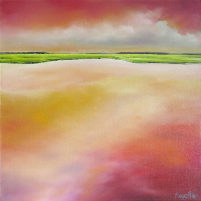 Original art for sale at UGallery.com | Marsh Glow II by NANCY HUGHES MILLER | $775 | Oil painting | 20' h x 20' w | http://www.ugallery.com/oil-painting-marsh-glow-ii