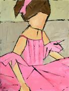 Children's art,People art,Pop art,acrylic painting,Little Ballerina