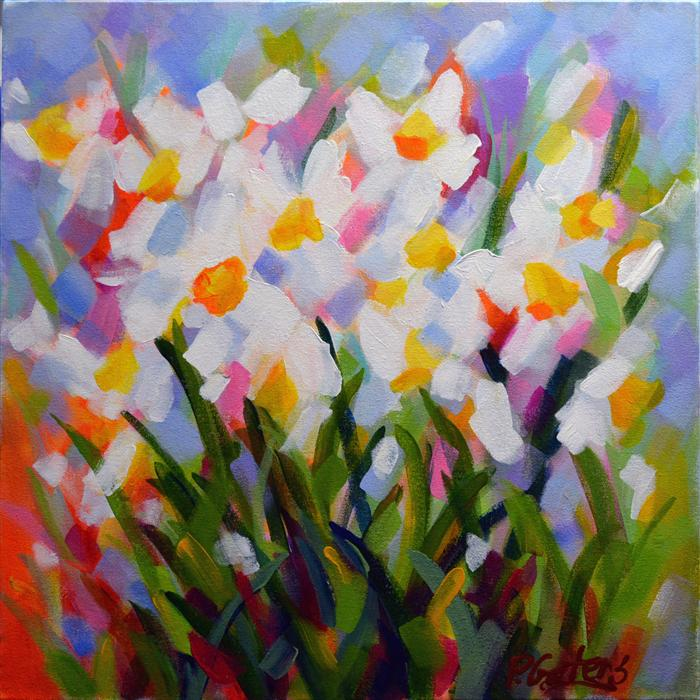 Discover Original Art by Pamela Gatens | Prism Petals acrylic painting | Art for Sale Online at UGallery