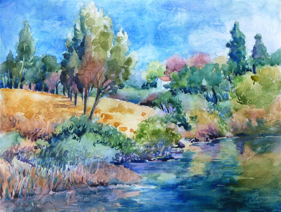 Original art for sale at UGallery.com | Last Days of Summer by CATHERINE MCCARGAR | $575 | Watercolor painting | 12' h x 16' w | http://www.ugallery.com/watercolor-painting-last-days-of-summer