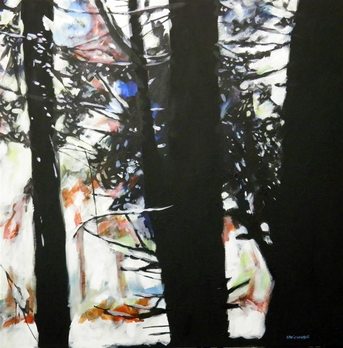 Original art for sale at UGallery.com | Redwoods #5 by CHRIS WAGNER | $1,925 | Acrylic painting | 36' h x 36' w | http://www.ugallery.com/acrylic-painting-redwoods-5