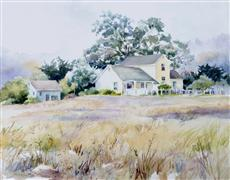 Impressionism art,Landscape art,watercolor painting,Misty Solitude
