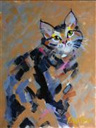 Children's art,Animals art,acrylic painting,Stripes and Strokes