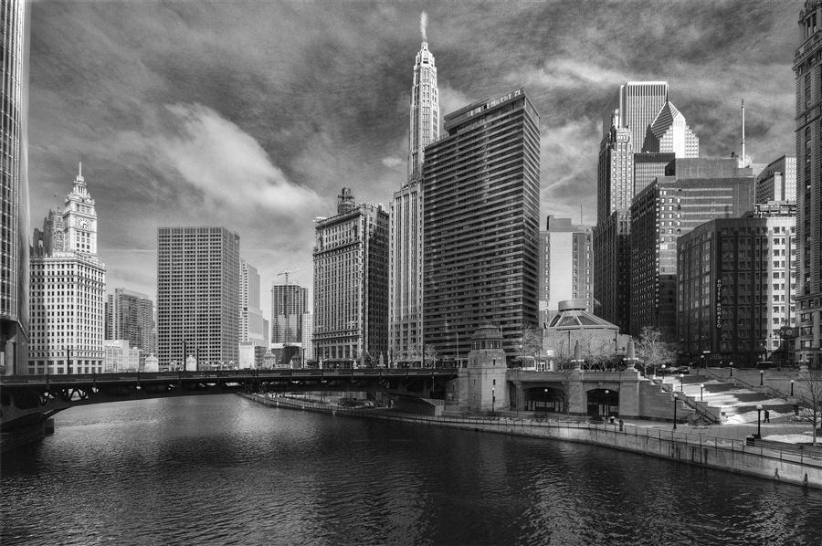 Original art for sale at UGallery.com | Metropolis Chicago by MICHAEL BAKER | $150 |  | ' h x ' w | http://www.ugallery.com/photography-metropolis-chicago