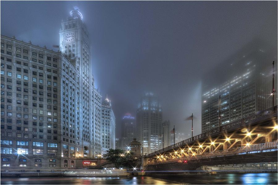 Original art for sale at UGallery.com | Chicago A La Nuit by MICHAEL BAKER | $170 |  | ' h x ' w | http://www.ugallery.com/photography-chicago-a-la-nuit