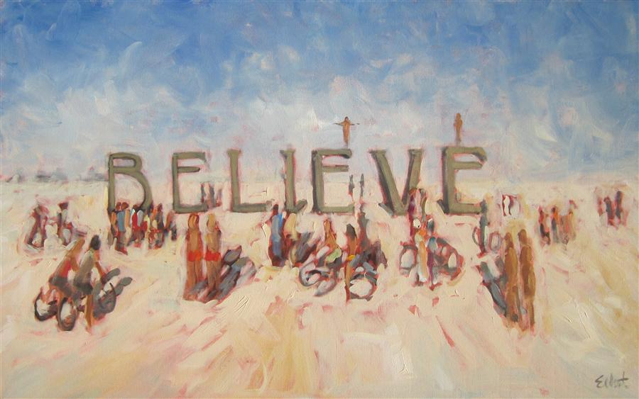Original art for sale at UGallery.com | Schomberg/Kimpton at Burning Man '13 by ELLIOT COATNEY | $1,750 | Acrylic painting | 30' h x 48' w | http://www.ugallery.com/acrylic-painting-schomberg-kimpton-at-burning-man-13