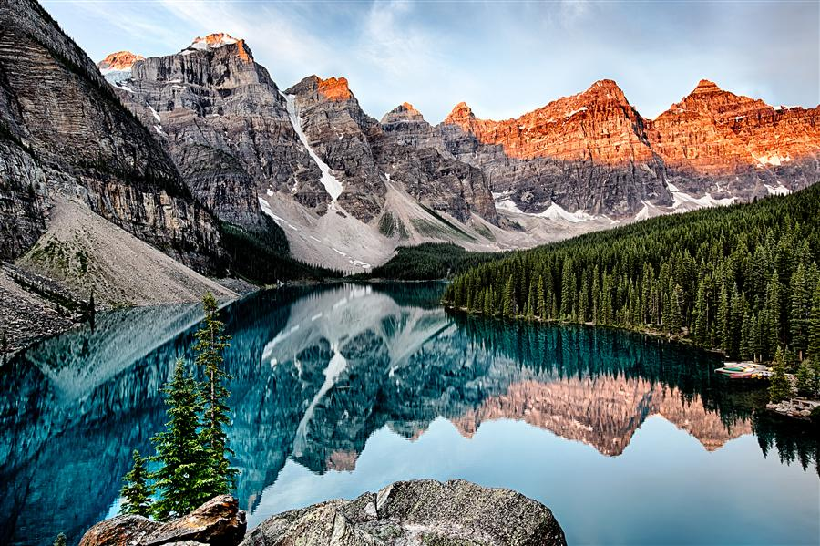 Discover Original Art by Jay Moore | Moraine Lake, Sunrise photography | Art for Sale Online at UGallery