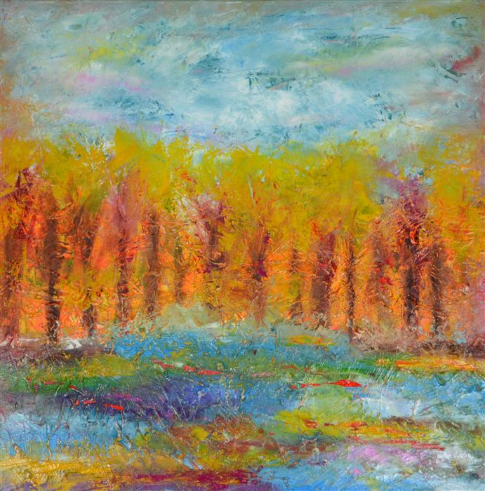 Discover Original Art by Chelsea Tikotsky | Fall oil painting | Art for Sale Online at UGallery