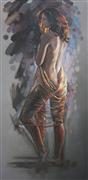 Nudes art,People art,oil painting,Wrapped in Gold