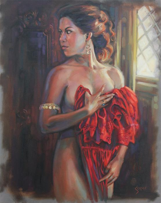Discover Original Art by Patrick Soper | Spanish Dress oil painting | Art for Sale Online at UGallery