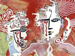 Expressionism art,Fantasy art,People art,acrylic painting,Dream 25