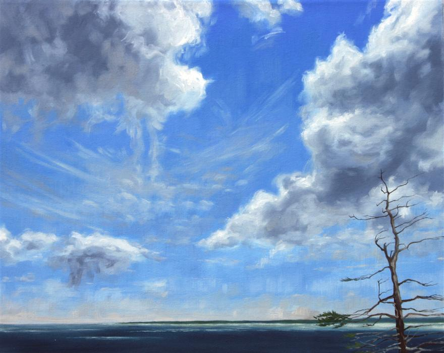 Discover Original Art by Jay Jensen | The Sky Over Grand Manan oil painting | Art for Sale Online at UGallery