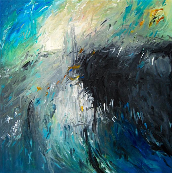 Original art for sale at UGallery.com | Oceanic by KARA BARKVED | $700 | Acrylic painting | 24' h x 24' w | http://www.ugallery.com/acrylic-painting-oceanic