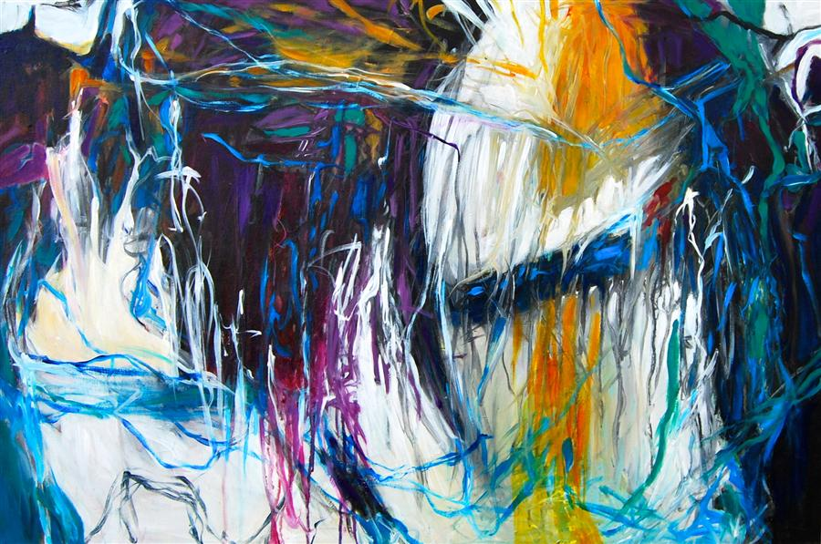 Original art for sale at UGallery.com | Momentary by KARA BARKVED | $1,075 | Acrylic painting | 24' h x 36' w | http://www.ugallery.com/acrylic-painting-momentary