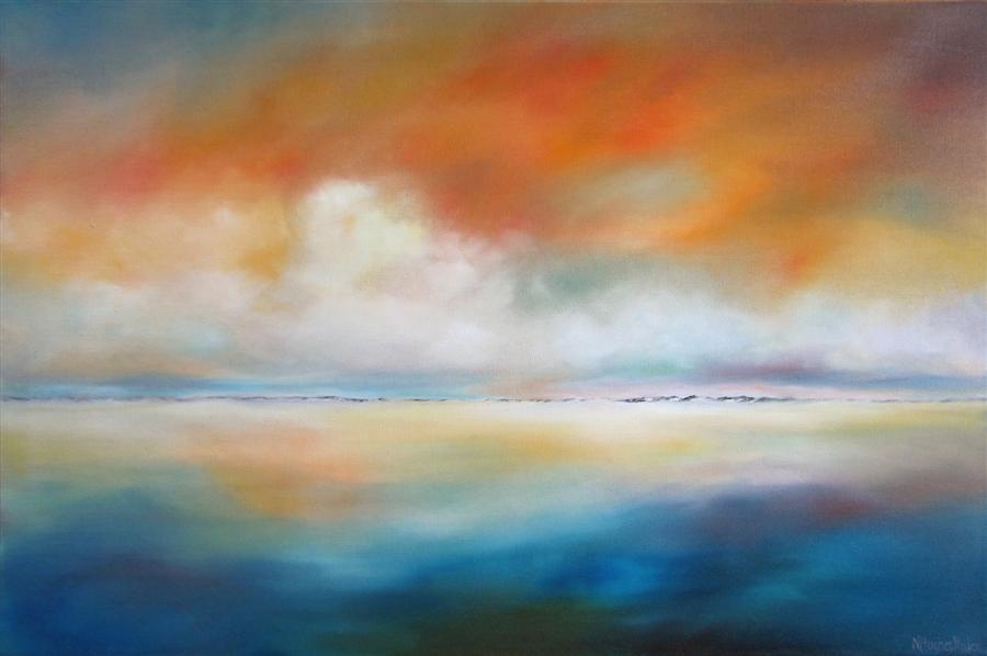 Original art for sale at UGallery.com | Distant Dunes by NANCY HUGHES MILLER | $1,225 | Oil painting | 24' h x 36' w | http://www.ugallery.com/oil-painting-distant-dunes