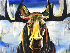 Discover Original Art by Piero Manrique | Moose acrylic painting | Art for Sale Online at UGallery