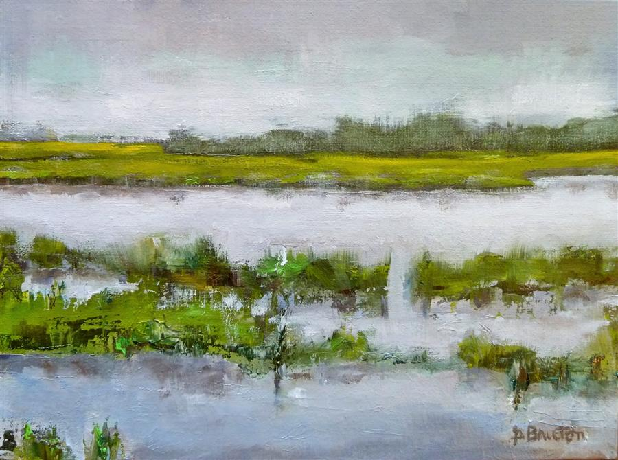 Discover Original Art by Gary Bruton | Marsh oil painting | Art for Sale Online at UGallery
