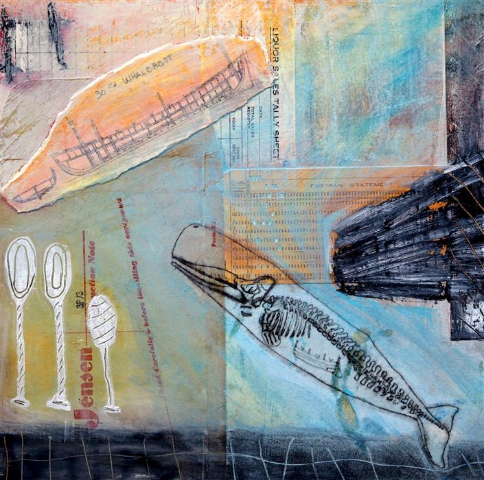Original art for sale at UGallery.com | Ramming Speed by LESLIE MORGAN | $550 | Mixed media artwork | 14' h x 14' w | http://www.ugallery.com/mixed-media-artwork-ramming-speed
