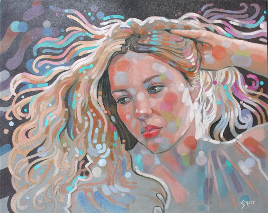 Original art for sale at UGallery.com | Golden Locks by PATRICK SOPER | $2,200 | Oil painting | 24' h x 30' w | http://www.ugallery.com/oil-painting-golden-locks
