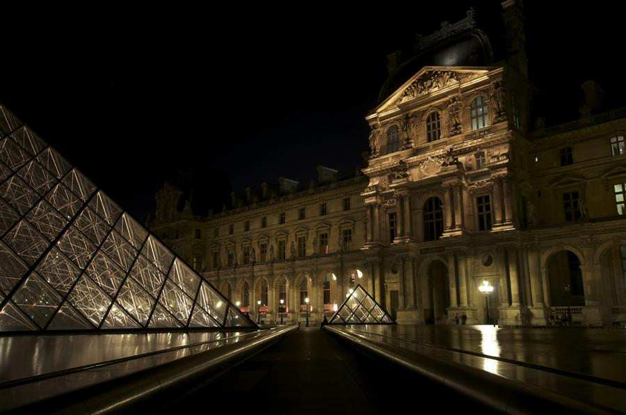 Original art for sale at UGallery.com | Midnight at the Louvre by JAMES COLE | $170 |  | ' h x ' w | http://www.ugallery.com/photography-midnight-at-the-louvre