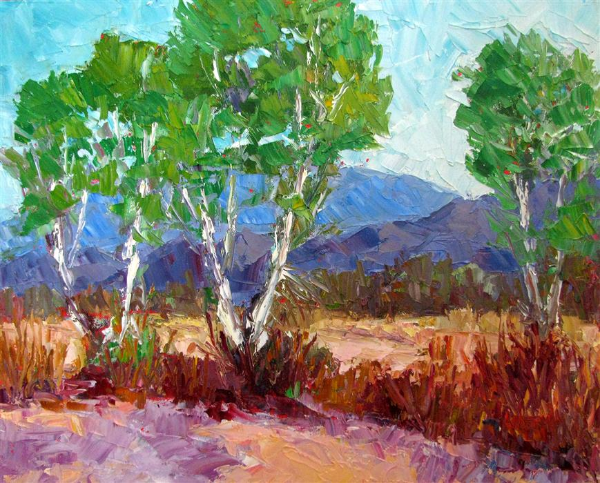 Discover Original Art by Roger Alderman | Tanque Verde Wash oil painting | Art for Sale Online at UGallery