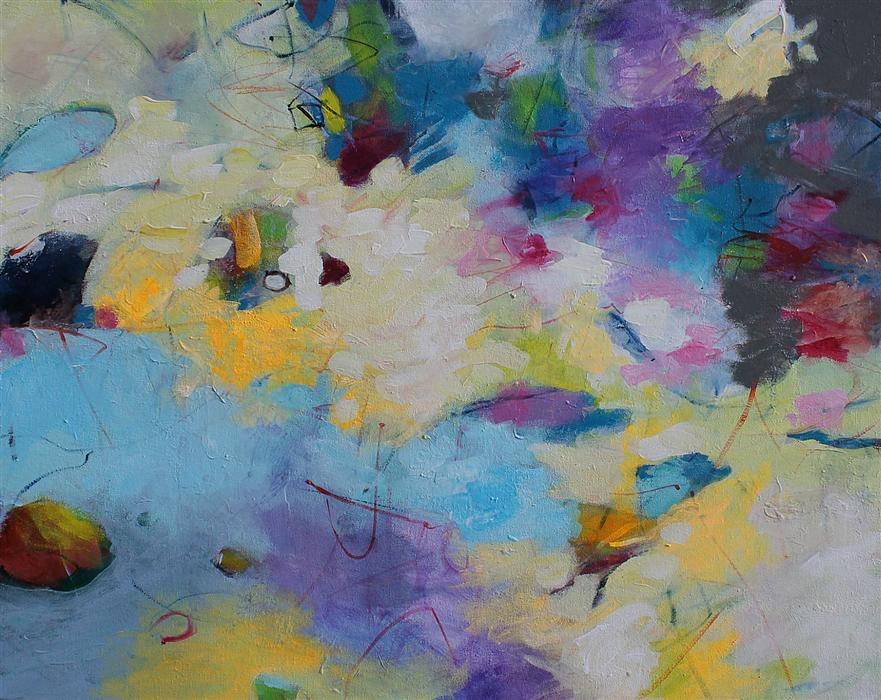 Original art for sale at UGallery.com   Dandelions and Wind by KERRI  BLACKMAN   $700   Acrylic painting   24' h x 30' w   http://www.ugallery.com/acrylic-painting-dandelions-and-wind