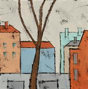 Architecture art,Minimalism art,Representational art,Modern  art,acrylic painting,Fall
