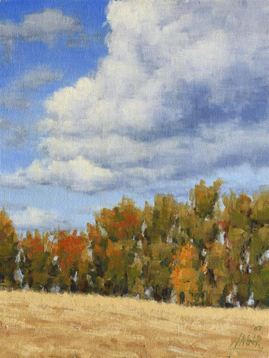 Original art for sale at UGallery.com | October Colors by NATHAN HAGER | $525 | Oil painting | 12' h x 9' w | http://www.ugallery.com/oil-painting-october-colors