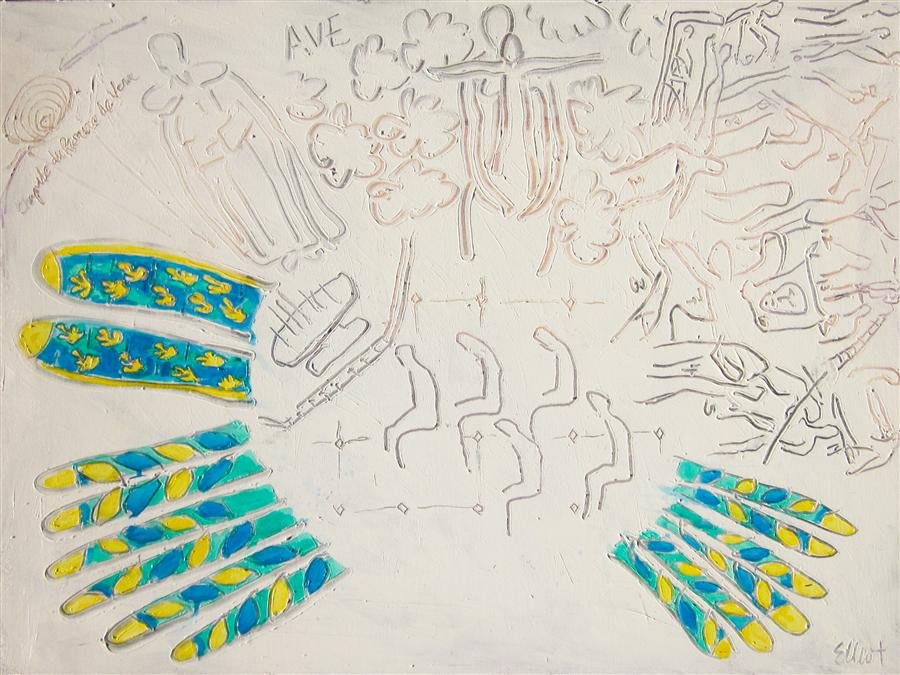 Discover Original Art by Elliot Coatney | Matisse Chapel (Chapelle du Rosaire de Vence) acrylic painting | Art for Sale Online at UGallery
