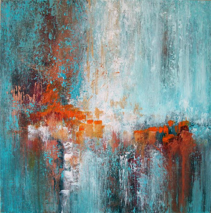 Discover Original Art by Donna Johansen | Turquoise Ocean acrylic painting | Art for Sale Online at UGallery
