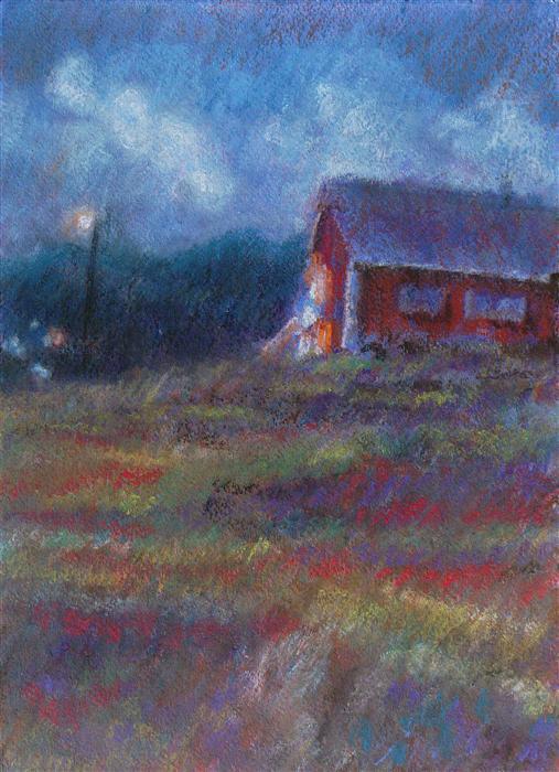Discover Original Art by Sarah Beth Goncarova | Red House pastel artwork | Art for Sale Online at UGallery