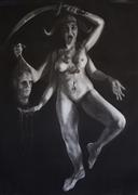 People art,Religion art,Surrealism art,Representational art,charcoal drawing,Kali