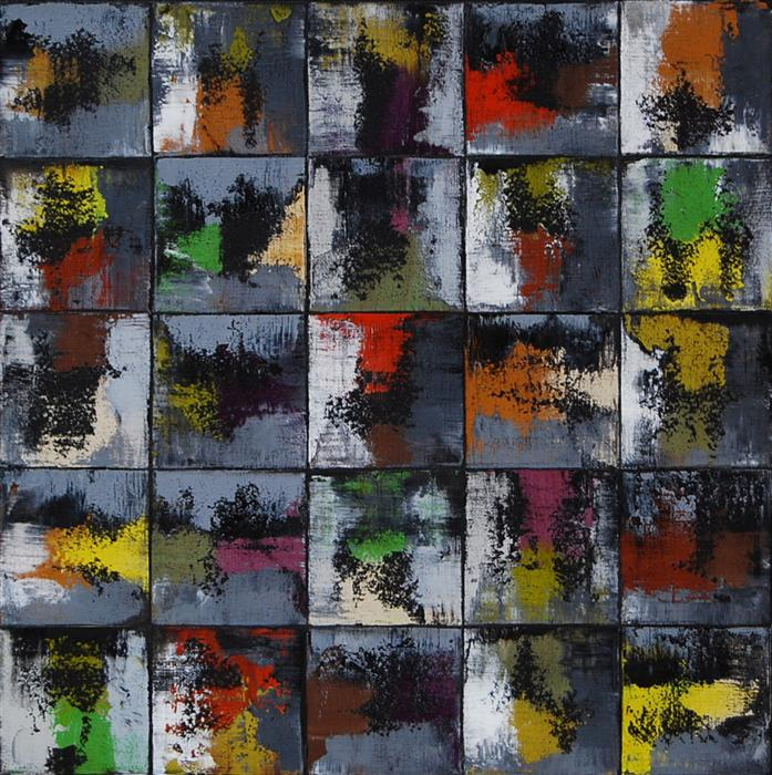 Original art for sale at UGallery.com | Gray Squares by JANET HAMILTON | $900 | Oil painting | 20' h x 20' w | http://www.ugallery.com/oil-painting-gray-squares