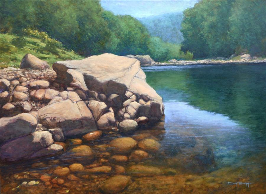 Original art for sale at UGallery.com | Summer on the Wilson by DON BISHOP | $3,000 | Oil painting | 36' h x 48' w | http://www.ugallery.com/oil-painting-summer-on-the-wilson