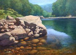 Seascape art,Realism art,Representational art,oil painting,Summer on the Wilson