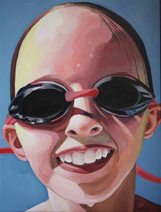 Discover Original Art by Rachel Srinivasan | Goggles oil painting | Art for Sale Online at UGallery